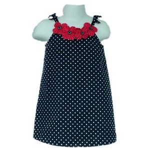 Gymboree Polka Dot Tank Dress Black White 18-24M